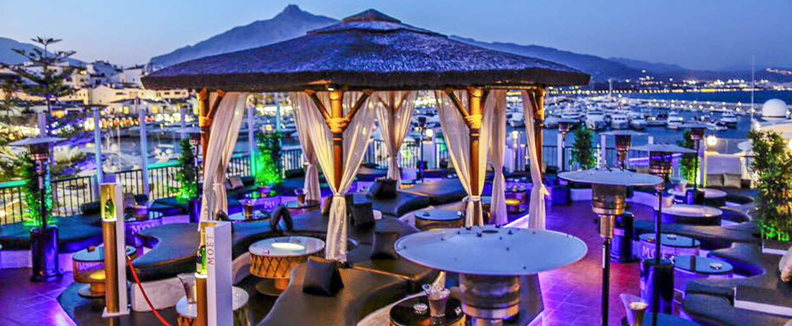 Pangea marbella table and guest list bookings for Banus group